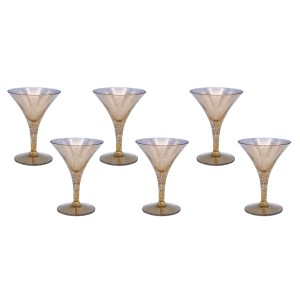 Dorothy Thorpe Gold Fleck Large Martini Glasses, Set of Six (6)