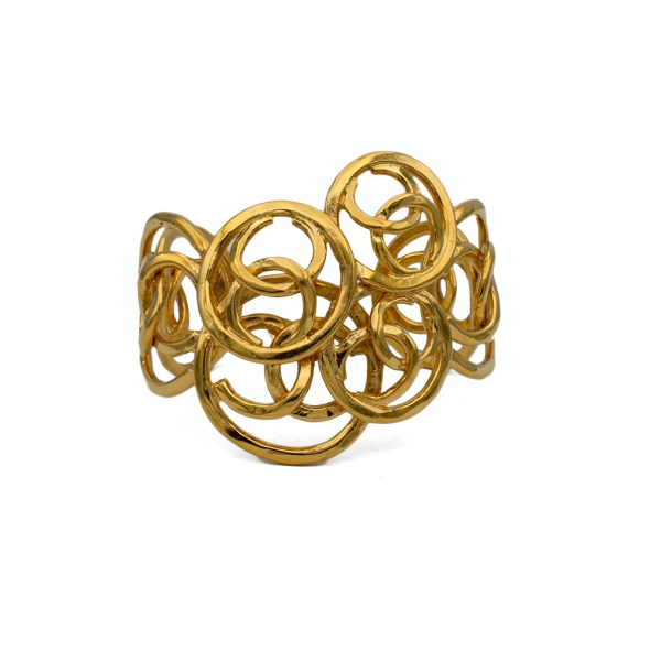 "Chanel 2 1/4"" Cuff of Overlapping Graduated CC logos, 1991"