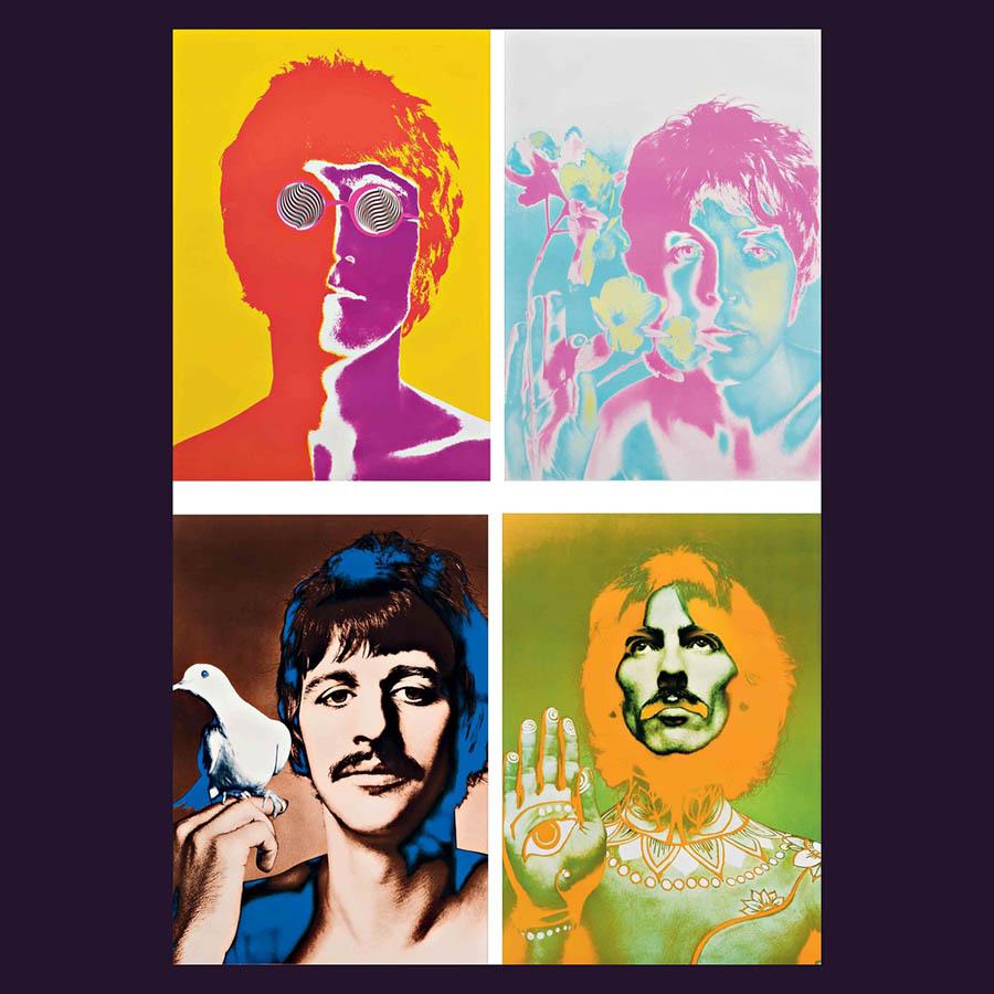 Beatles Richard Avedon four lithographs