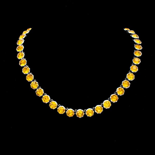"Revival Paste Topaz ""Countess Riviere"" Necklace"