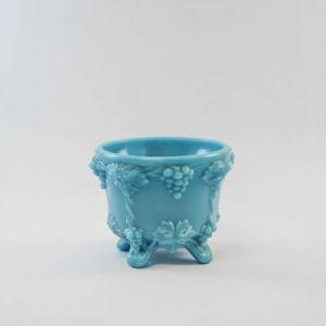 blue milk glass dish
