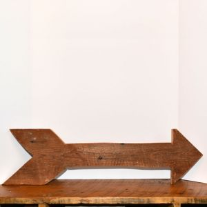 medium wooden arrow