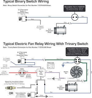 Vintage Air » Blog Archive WIRING DIAGRAMS Binary Switch  Trinary Switch  Vintage Air