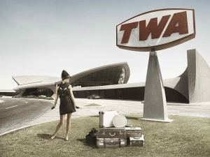 TWA Terminal Sign at JFK 1960s