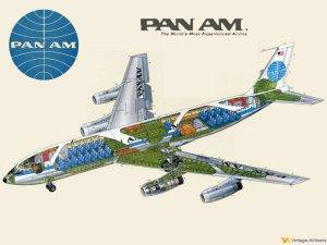 Pan Am Boeing 707 Cutaway