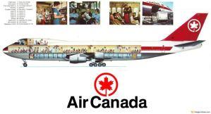 Air Canada Boeing 747-100 Cutaway