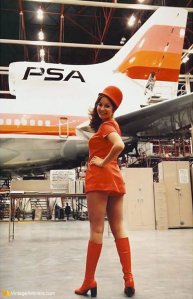 PSA L-1011 and Stewardess