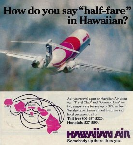 Hawaiian Airlines Publicity, 1970s