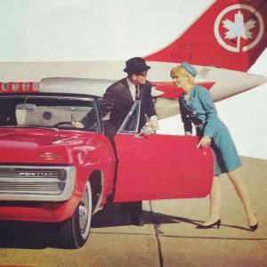 Pontiac Promotion w/Air Canada DC-9