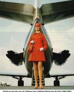 Air Inter Stewardess & Caravelle