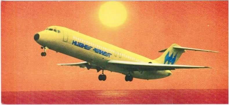 Hughes Airwest DC-9 Sunset