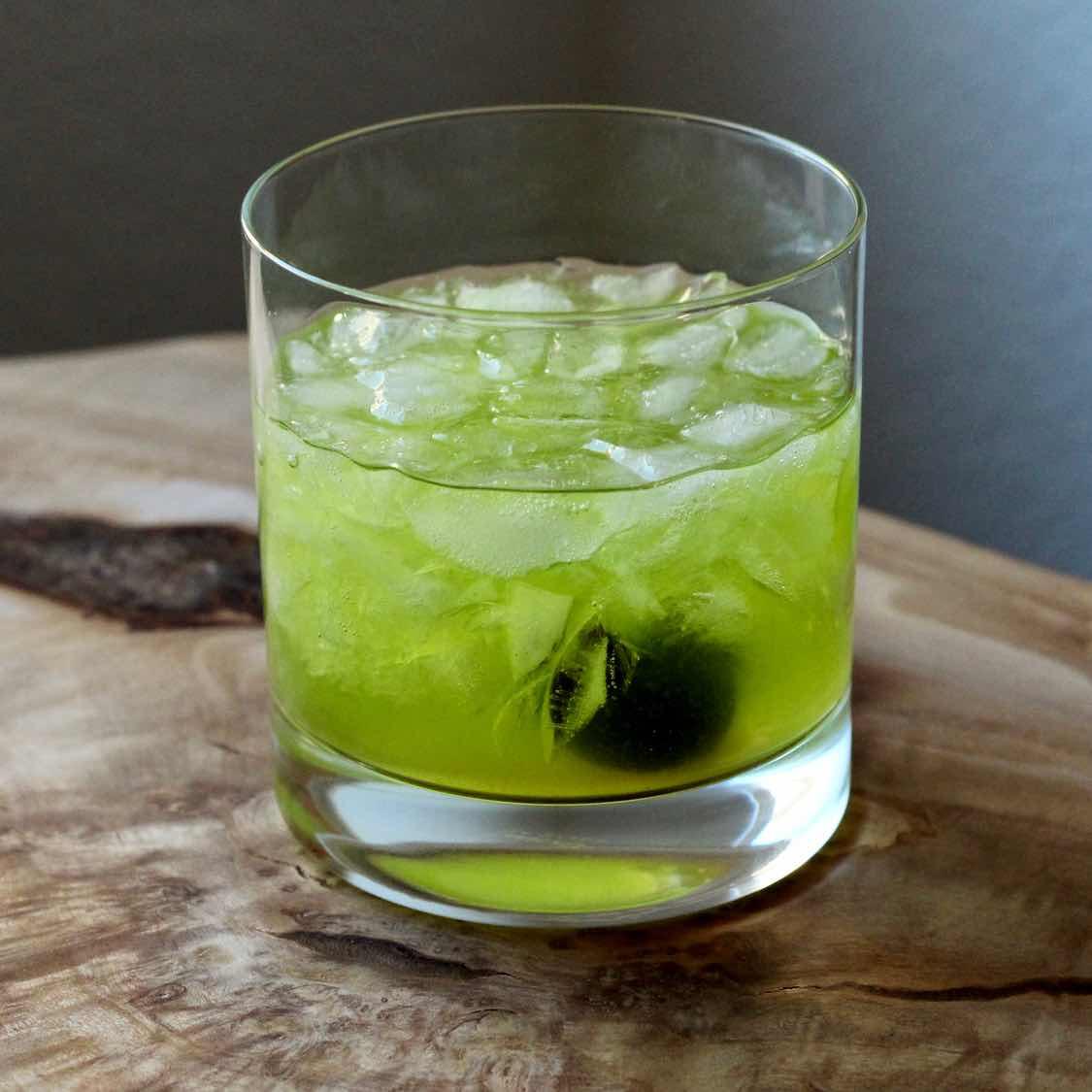 Improved Midori Sour - A Balanced Herbal Twist on the Midori Sour