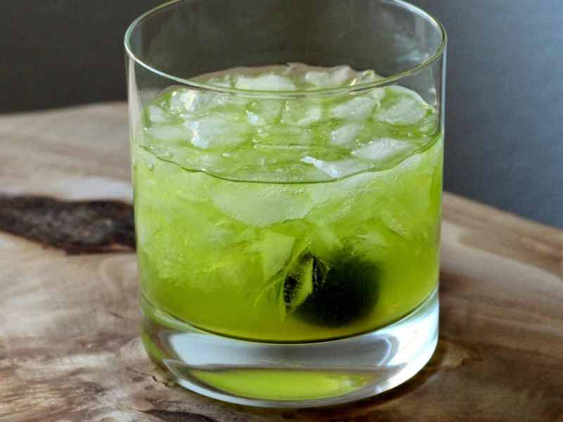 Improved Midori Sour Cocktail