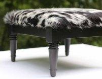 TheCowPelt ~ Vintage Cowhide Footstool