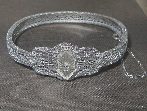 VintageVogueTreasure ~ Art Deco Camphor Glass Bracelet