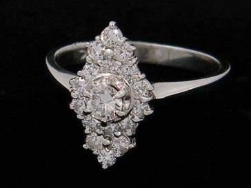 AntiqueLockets ~ Platinum Diamond Ring