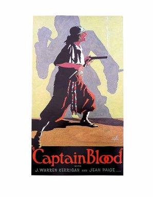 CAPTAIN BLOOD 1923 Vintage Silent Movie Era Poster by Batiste Madalena