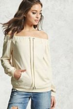 Forever21 Off-The-Shoulder Terry Top