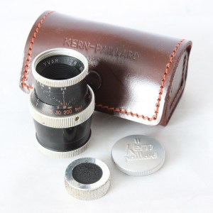 Paillard Bolex Kern Yvar f2.8 36mm Movie Camera D-Mount Lens Incl. Caps & Case