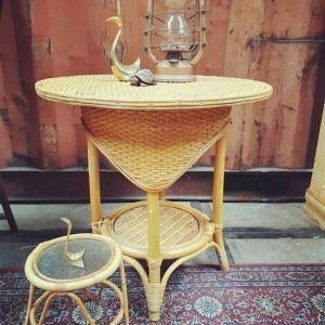 Rotan tafeltje | Vintage Brabant