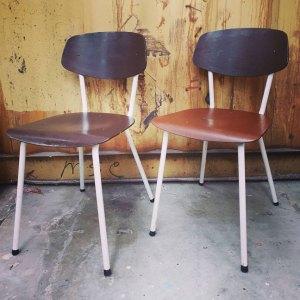 oldskool bruine stoel