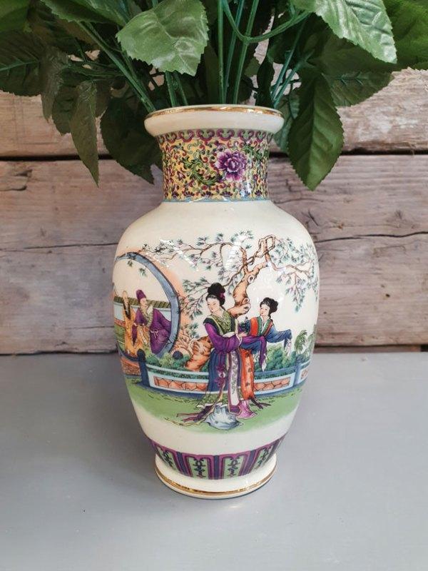 Chinese Porselein Vaas | Vintage Brabant
