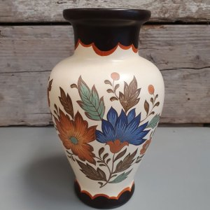 Flora Gouda Plateel Vaas | Vintage Brabant
