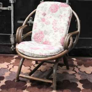 Vintage Rotan Kuipstoel | Vintage Brabant