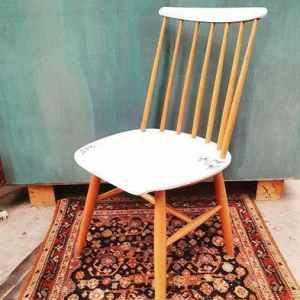 Sloeltje Hout met Bloemetjes Details | Vintage Brabant