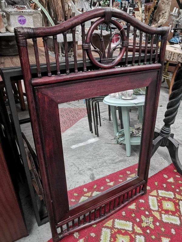 Rotan spiegel   Vintage brabant