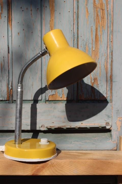 Lampe à poser jaune Vintage