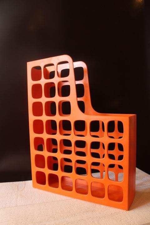 Porte revues orange des années 70