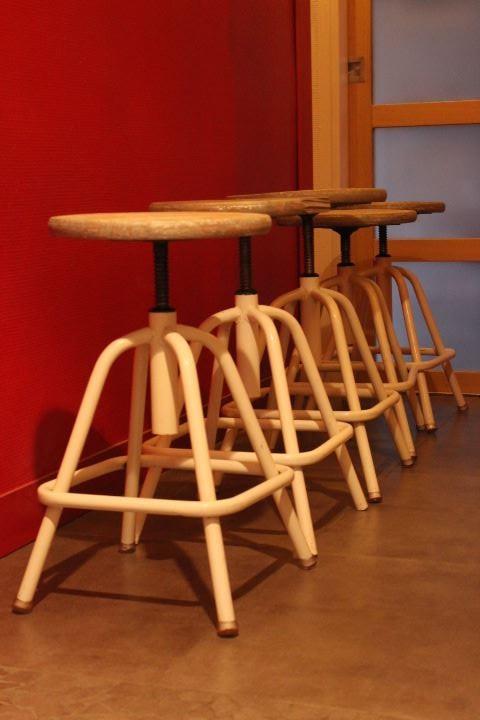 tabouret d'atelier réglable design industriel