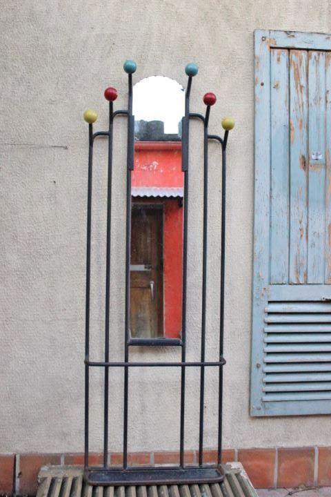 Porte manteaux boule vintage