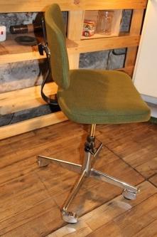 Chaise bureau mariage textile & chrome