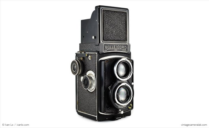 TLR, analoog, camera, analoge camera