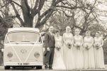 wedding party by vw campervan