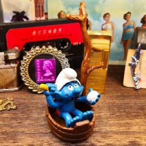 藍精靈公仔Smurf Figure (Made in Hong Kong)