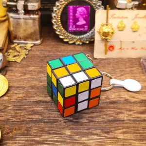 Mini Rubik's Cube Keyring