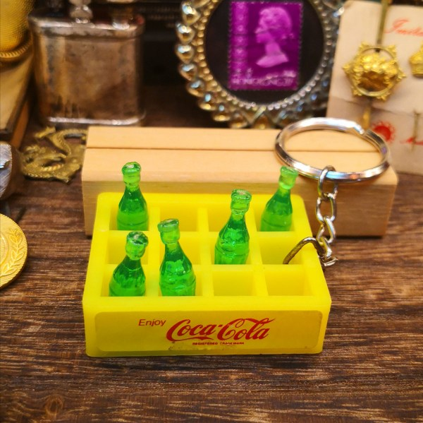 Mini Coca-cola Bottles with Tray Keyring