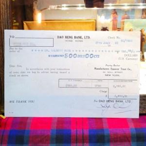 舊香港紙品 1965道亨銀行匯款海外單據