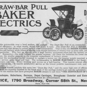 1906 Baker Electric Advertisement