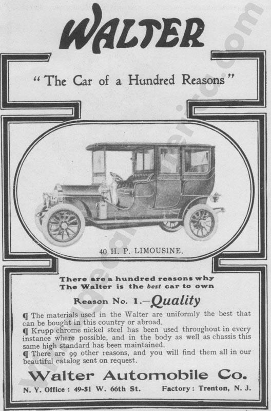 1907 Walter Advertisement
