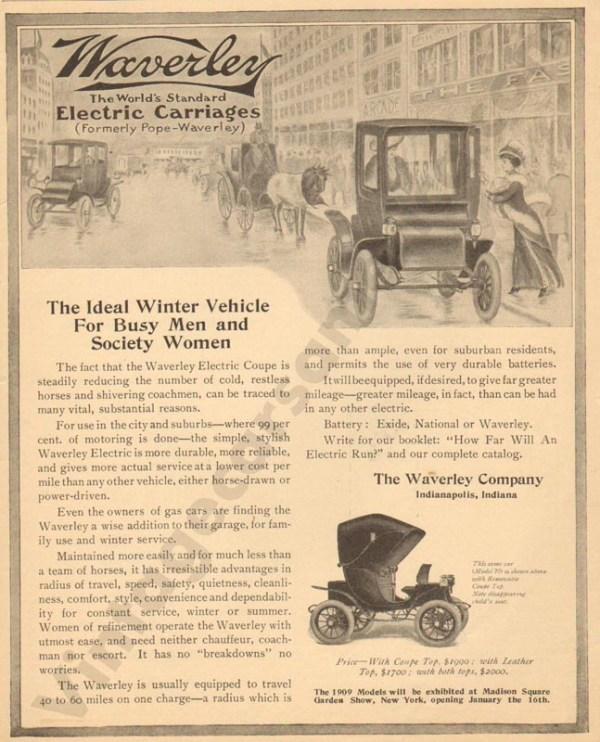 1/7/1909 Waverly Electric Advertisement