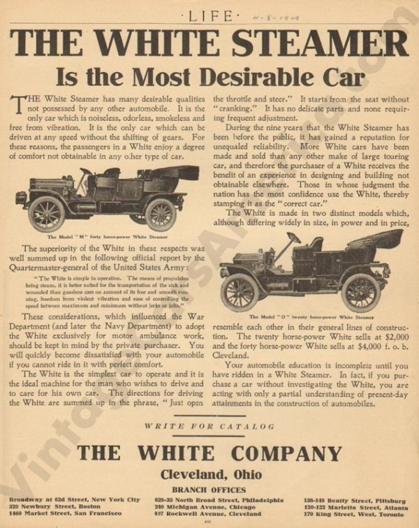 4/8/1909 White Advertisement