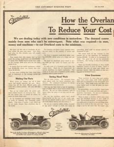 1910 Overland Advertisement #3.