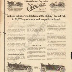 1910 Overland Advertisement #4