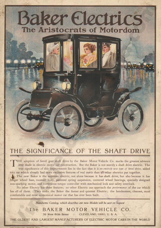 1910 Baker Electric Advertisement