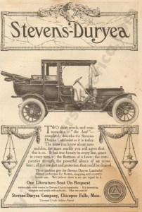 1910 Stevens Duryea Advertisement