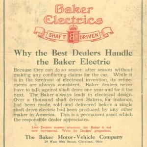 1911 Baker Electric Advertisement